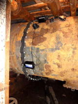 Ví dụ lắp đặt ống nước làm mát 2 của thiết bị ngưng tụ quy mô